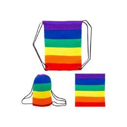 12 Units of Rainbow Laundry Bag - Laundry Baskets & Hampers