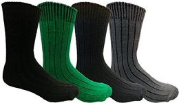 4 Units of Yacht&smith Merino Wool Socks For Boys, 4 Pairs Ultra Soft, Comfortable Hiking Sock Youth 9-11 (4 Pairs Assorted) - Boys Crew Sock