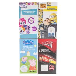 20 Units of Valentine Cards 16ct 20pc Pdq Licensed Notepads 4 Asst *2.99* See N2 Ref - Valentine Gift Bag's