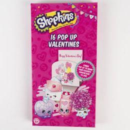 28 Units of Valentine Cards 16ct Shopkins Pop up - Valentine Gift Bag's