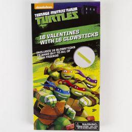 28 Units of Valentine Cards 16ct Tmnt W/glow Sticks *3.99* - Valentine Gift Bag's