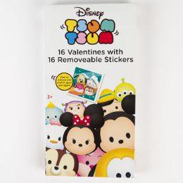 28 Units of Valentine Cards 16ct Tsum Tsum Deluxe Rmv Stick - Valentine Gift Bag's