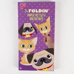 28 Units of Valentine Cards 24ct Foldin Friends - Valentine Gift Bag's