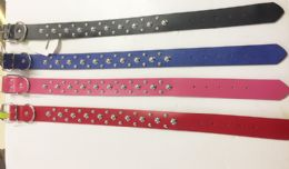 24 Units of Assorted Color Large Dog Collars - Pet Accessories