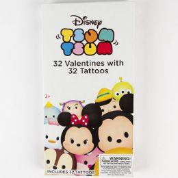 28 Units of Valentine Cards 32ct Tsum Tsum W/glow Sticks - Valentine Gift Bag's