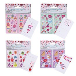 36 Units of Valentine Cards With Stickers - Valentine Gift Bag's