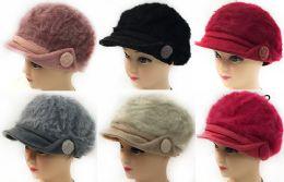 36 Bulk Faux Rabbit Fur Lady's Winter Hats