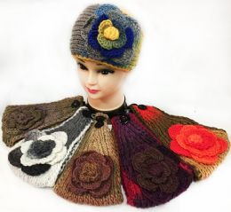 12 Bulk Tie Dye Effect Multicolored Flower Headbands
