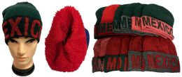 12 Units of Mexico Plush Lining Winter Hat - Winter Beanie Hats