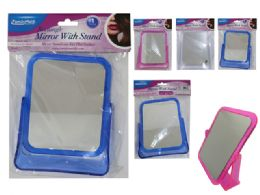48 Bulk Mirror With Stand Rectangle 3 Assorted Color