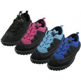 36 Units of Women's Lace Up Wave Water Shoes - Women's Aqua Socks