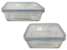 24 Units of Glass Rectangle Food Container - Food Storage Containers