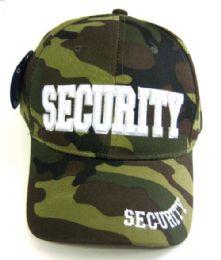 24 Wholesale Camo Print Security Caps