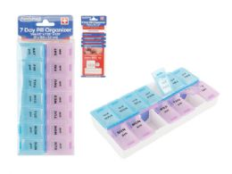72 Units of 7 Days 2 Layer Day And Night Pill Box - Pill Boxes and Accesories