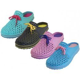 36 Units of Women's Slip On Open Back Garden Shoes - Women's Flip Flops