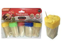 96 Units of Toothpick W/heart Shape Dispenser - Toothpicks