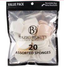 36 Bulk MakE-Up Blender Sponges Resealable Bag 20 Piece Count