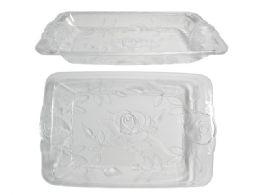 48 Units of CrystaL-Like Rectangular Tray - Serving Trays