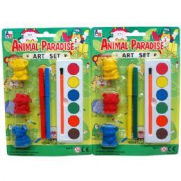 48 Bulk Animal Art Play Set