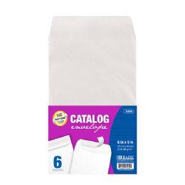 48 Bulk Bazic 6 X 9 SelF-Seal White Catalog Envelope (6/pack)