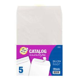 48 Bulk Bazic 9 X 12 SelF-Seal White Catalog Envelope (5/pack)