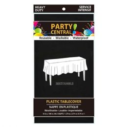 96 Units of Rectangle Black Plastic Table Cover - Table Cloth