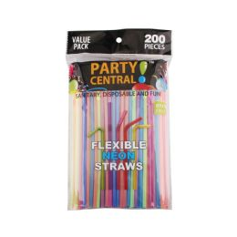 96 Units of 200 Pack Flexible Drinking Straws - Straws and Stirrers