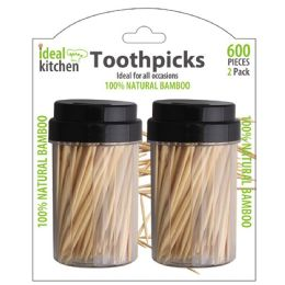 96 Units of 2 Pack Bamboo Toothpick - Toothpicks