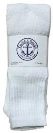 24 Units of Yacht & Smith Men's White Cotton Terry Tube Socks,30 Inch Long Athletic Tube Socks, Size 10-13 - Mens Tube Sock