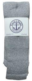 36 Bulk Yacht & Smith Men's Cotton 31 Inch Tube Socks, Referee Style, Size 10-13 Solid Gray