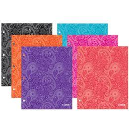 96 Units of Bazic Paisley 2-Pockets Portfolios - Folders & Portfolios