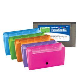 144 Units of Bazic 13-Pockets Coupon/personal Check Size Expanding File - Folders & Portfolios