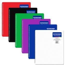 48 Units of Bazic Poly 8 Pockets Organizer - Folders & Portfolios