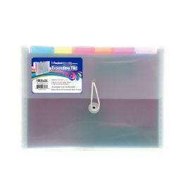 24 Units of Bazic Rainbow 7-Pocket Letter Size Poly Expanding File - Folders & Portfolios