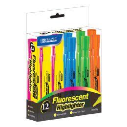 24 Bulk Bazic Desk Style Fluorescent Highlighters (12/box)