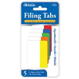 72 Bulk Bazic 6 Ct. 2 X 1.5 Filing Tabs (5/pack)