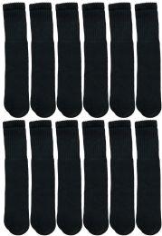 1200 Bulk Yacht & Smith 28 Inch Men's Long Tube Socks, Black Cotton Tube Socks Size 10-13