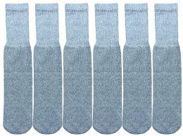 1200 Bulk Yacht & Smith Men's Cotton 28 Inch Tube Socks, Referee Style, Size 10-13 Solid Gray