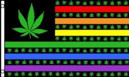 24 of Rainbow Flag With Marijuana