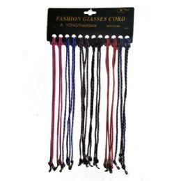48 Wholesale Eyeglass Cord Laces Asstd Colors