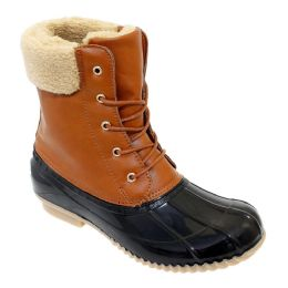 12 Units of Womens Duck Boot In Black Brown - Women's Boots