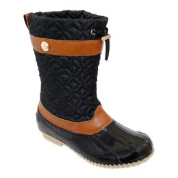12 Units of Womens Duck Boot In Black - Women's Boots