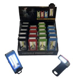 36 Bulk Magnetic Portable Work Light Assorted Colors