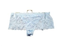 60 Units of Light Blue Stretch Lace Underwear Thong - Womens Size 5 - Womens Intimates