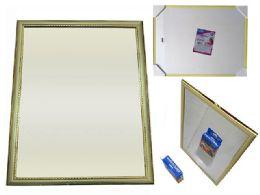 "36 Bulk Gold & Silver Framed Mirror 11"" X 14"""