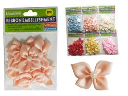 288 Bulk 6 Asst Colors 9 Pc Flower Embellishments