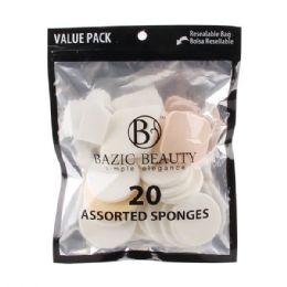 72 Bulk 20 Piece Assorted MakE-Up Blender Sponge