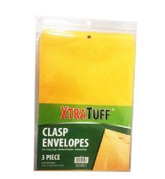 96 Wholesale Xtratuff 3 Pack Clasp Envelope