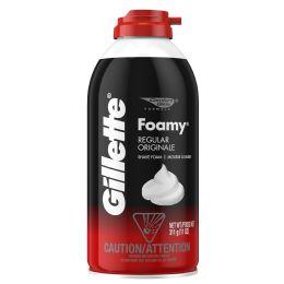 120 Units of Gillette Regular Foamy Shaving Cream Shipped By Pallet - Shaving Razors