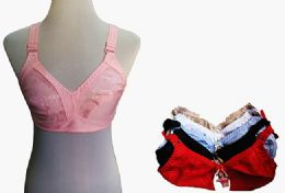 60 of Womens Unlined Bras Assorted Colors With Adjustable Straps
